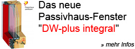 Passivhaus-Fenster DW-plus-integral