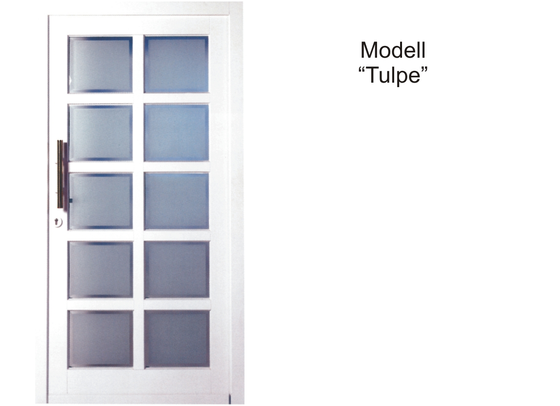 Haustür Holz Modell Tulpe Farbe weiss